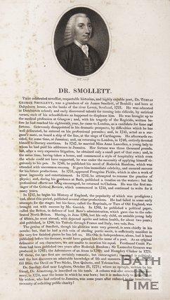 Portrait of Dr Tobias Smollet, 1794