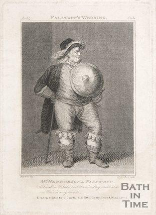 Mr Henderson as Falstaff, 1735