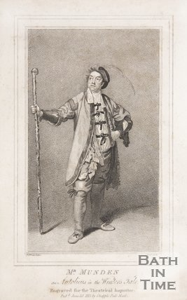 Mr Munden as Autolicus in the Winter's Tale, 1813