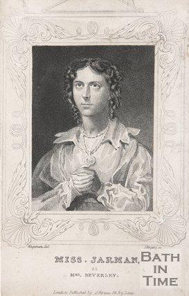 Miss Harman as Mrs. Beverley
