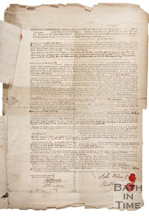 Articles of Agreement Between John Palmer and John Henderson (comedian), 1774