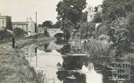 The Kennet & Avon canal at Sydney Buildings, Bath, c.1930s