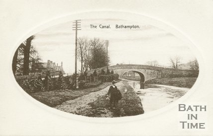 The Kennet & Avon canal at Bathampton, c.1910