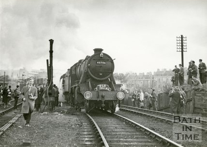 Somerset & Dorset 48706 Great Western Society Special leaves Green Park station for the last time, March 5th 1966
