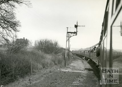 Somerset & Dorset 48706 Great Western Society Special passing Evercreech Junction North, March 5th 1966