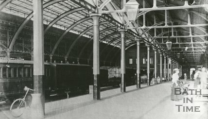 An early photograph of Green Park station in active use, c.1890