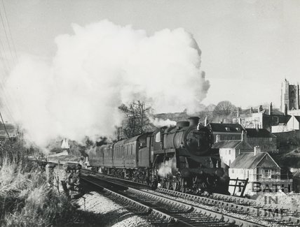 The Somerset & Dorset railway at Wellow, 11 December 1965