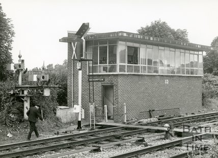 The Bathampton signal box, 15 August 1970