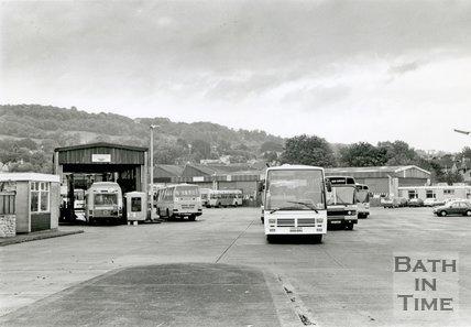 The old Kensington Bus Depot, London Road, Bath, c.1992