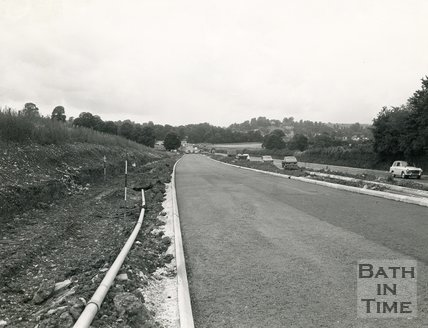 Road improvements to Newton St Loe, Bath, c.1970