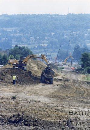 Building the Swainswick Batheaston Bypass, Bath, 1995