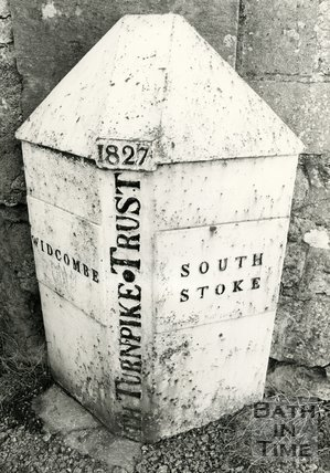 Cast iron parish boundary post, c.1984