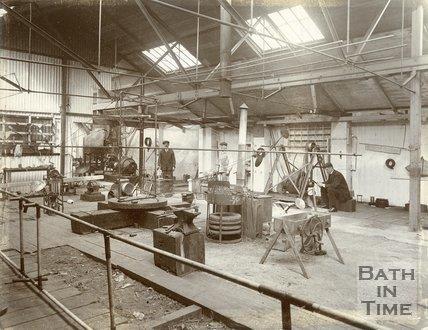 Inside the workshop of Patrick Alexander, The Mount, Batheaston, c.1902