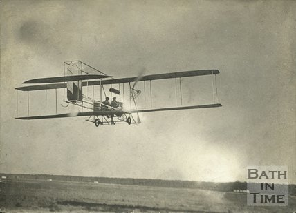 An aeronautical experiment at Lansdown by Patrick Alexander of Batheaston, c.1912
