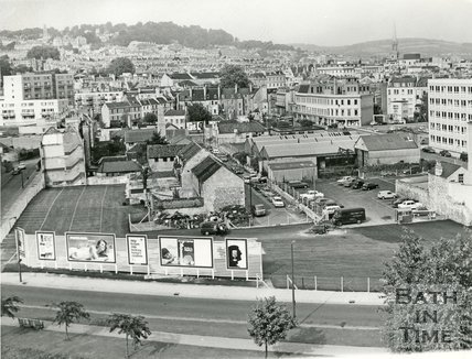 Milk Street car park, Bath, 1967