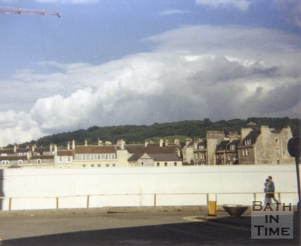 The Podium plinth awaiting further development, Walcot Street, Bath, 1989
