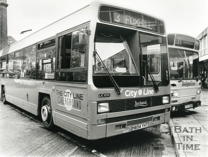Badgerline Bus in Bath Bus Station, July 1991