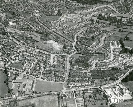 1965 Aerial view of Southdown, Bath, 7 August