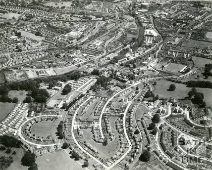 1965 Aerial view of Twerton, Bath, 7 August