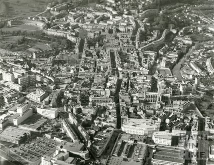 c.1982 Aerial view of Bath looking north