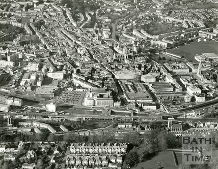 c.1982 Aerial view of Bath from Beechen Cliff