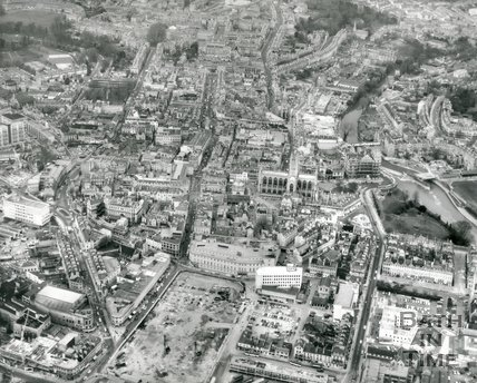 1972 Aerial view of Southgate, Bath
