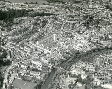 1960s Aerial view of Snow Hill, Bath