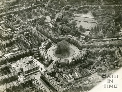 1937 Aerial view of the Circus, Bath, 19 May