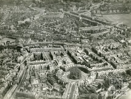 1937 Aerial view of the Circus and Paragon, Bath, 19 May