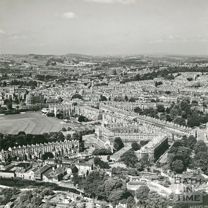 1946 Aerial view of Bath looking over Bathwick, 19 June