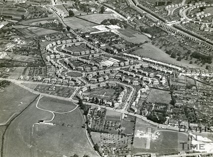 1935 Aerial view of Southdown, Bath, July