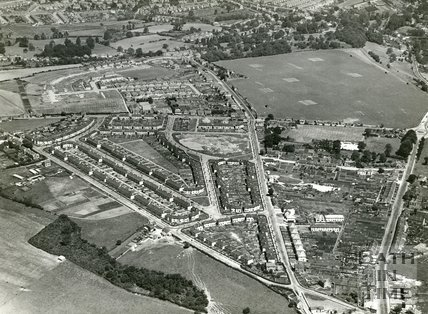 1935 Aerial view of Odd Down, Bath, July
