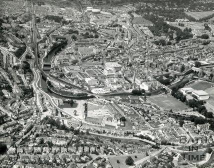 1976 Aerial view of Bath
