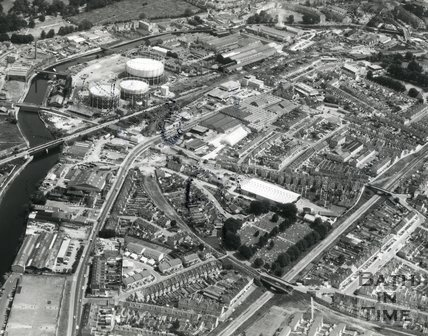 1976 Aerial view of Oldfield Park, Bath