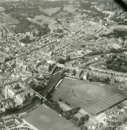 c.1958 Aerial view of Bath looking over the Recreation Ground