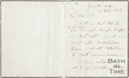 Letter from Kilvert to Hunt, 18th Feb 1853