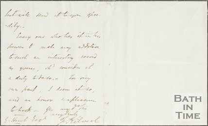 Letter from Kilvert to Hunt, 18th Feb 1853, verso