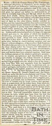 Bath in 1768 April 25th 1857