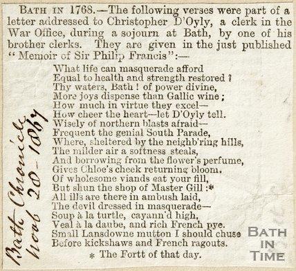 Bath in 1768