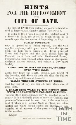 Hints for the Improvement of the City of Bath 1850