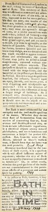 To the Editor of Bath and Cheltenham Gazette February 19th 1857