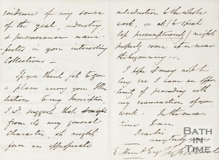 Letter from Hunt to Rev. Kilvert 18th April 1853 verso