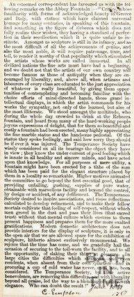 Remarks on the Abbey Fountain June 1861