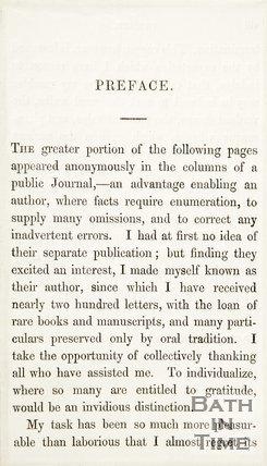 Preface to Rambles about Bath