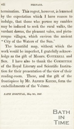 Page VIII of the Preface May 8th 1847