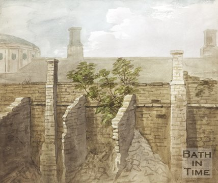 Watercolour of Section of City Wall