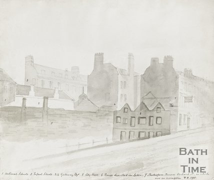 Watercolour of Orchard Street 1755