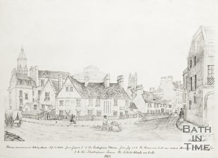 Sketch of Orchard Street 1857