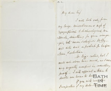 Letter from J Britton to Hunt August 16th 1852