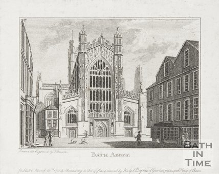 Engraving of Bath Abbey 1784